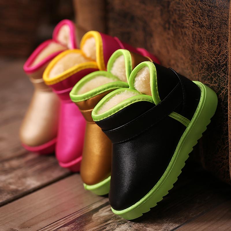 童鞋儿童雪地靴女童靴子2017冬季防水加厚宝宝保暖雪地靴男童棉鞋