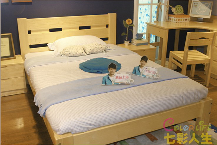 Special offer solid wood single bed double bed / Youth / adult / child bed loose wooden bed / spot