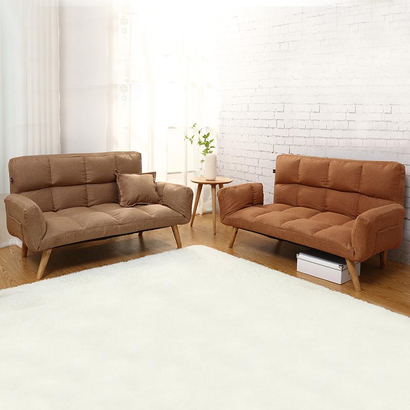 シンプルな現代の小型怠け者ソファが洗い張り折りたたみリビング2人掛けソファリクライニングたソファベッドルーム