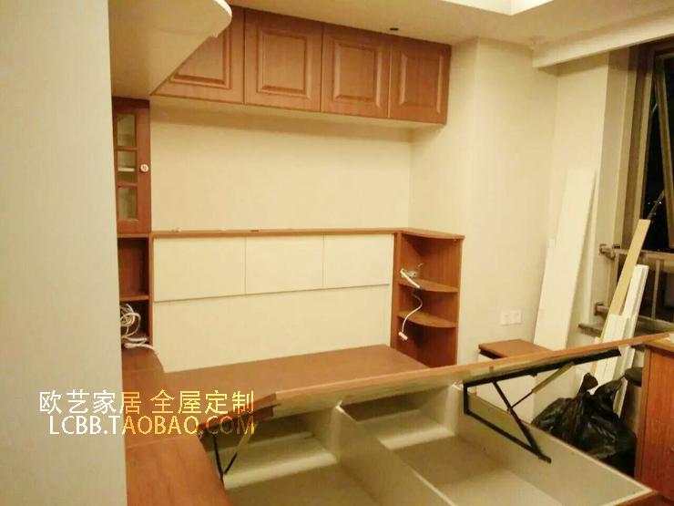 European style wall bed bed cabinet bed folding bed board custom storage tatami bed sofa wardrobe