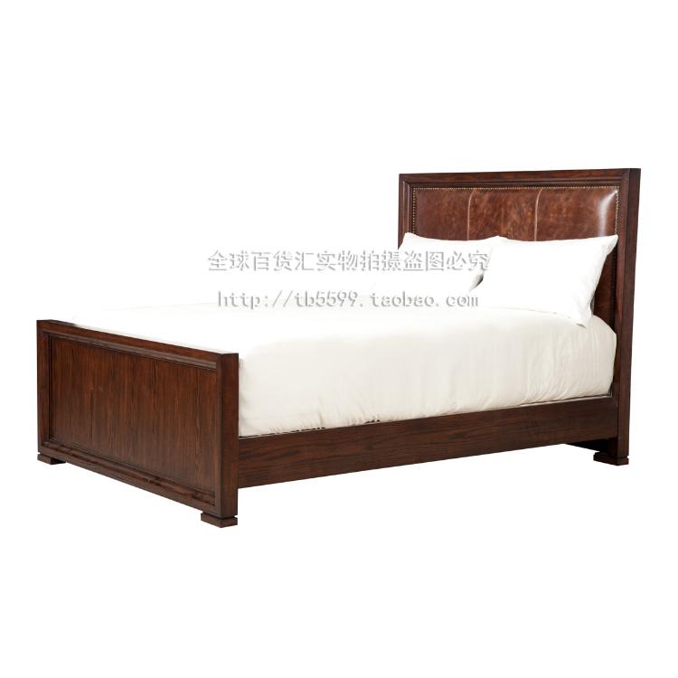 Carmel bed, American style solid wood, red oak, 1.5 meters, 1.8 meters, harbor double bed, house bedroom