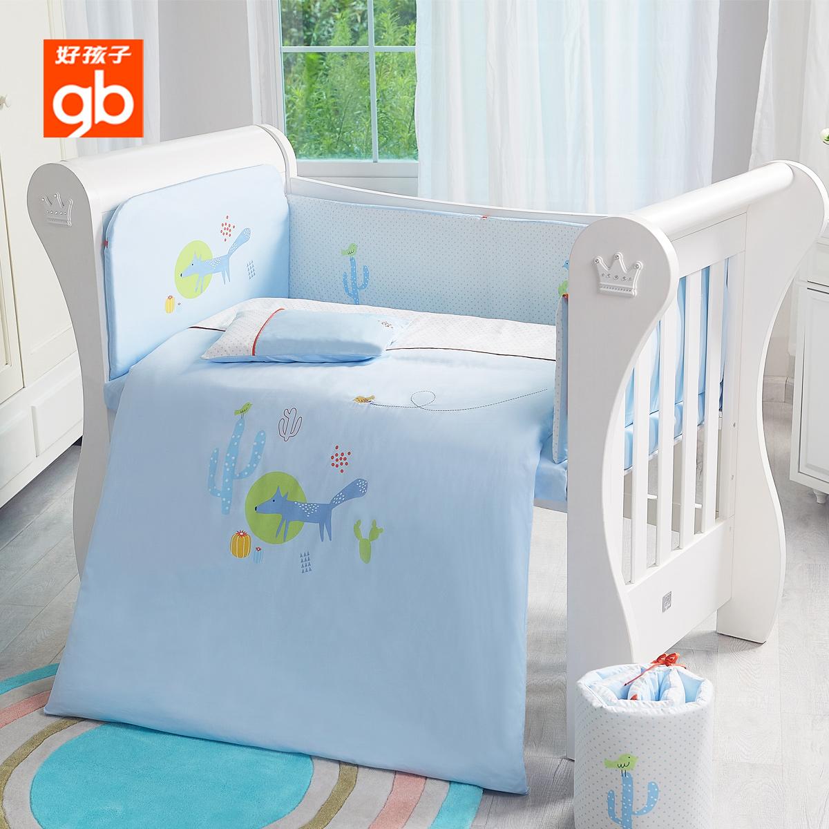 Εντάξει παιδιά μωρό κλινοσκεπάσματα μωρό το κρεβάτι της κρεβάτι μωρό πάπλωμα μαξιλάρι εννέα κομμάτια βαμβάκι