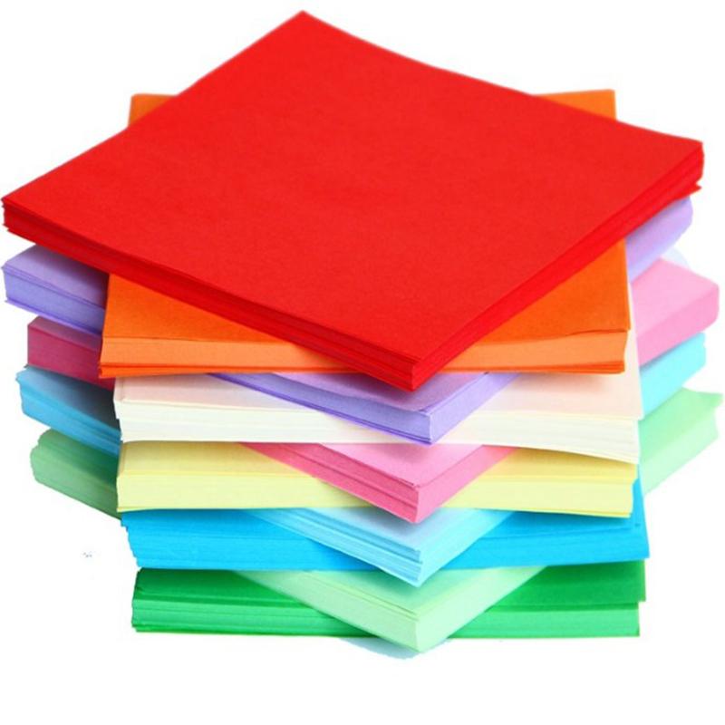 اوريغامي الورق الملون لون الورق A4 طباعة ورقة ديي لون الكرتون الملونة اوريغامي