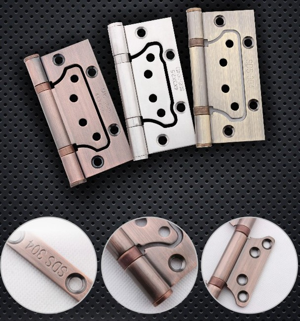 3 silent door door, folding wooden door, hinge, copper hinge, copper hinge, pure copper white hinge positioning Butterfly