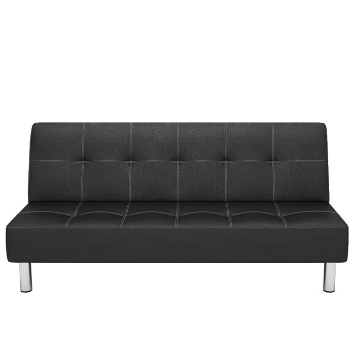 απλό μικρό διαμέρισμα πτυσσόμενο καναπέ - κρεβάτι 1,5 m μασίφ ξύλο δέρμα τεμπέλης Αμφίβια μικρή καναπέ 1,8