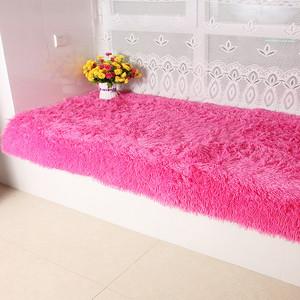 毛绒加厚榻榻米飘窗垫窗台垫坐垫现代纯色卧室阳台垫子飘窗毯定做