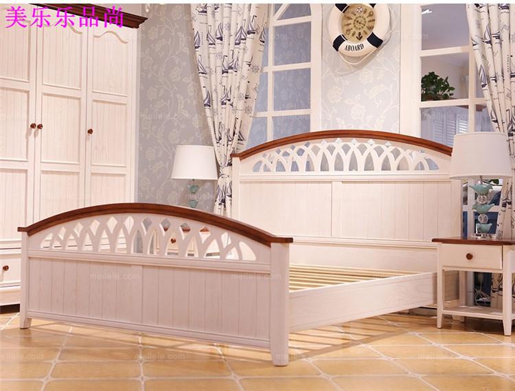 Mediterranean style American country bed, pewter solid wood 1.5 meters, 1.8 meters bed Shanghai custom furniture