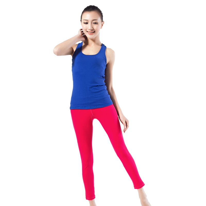 According to Qilian Yoga suits the new spring and summer sports fitness wear female slim vest pants suit with bra