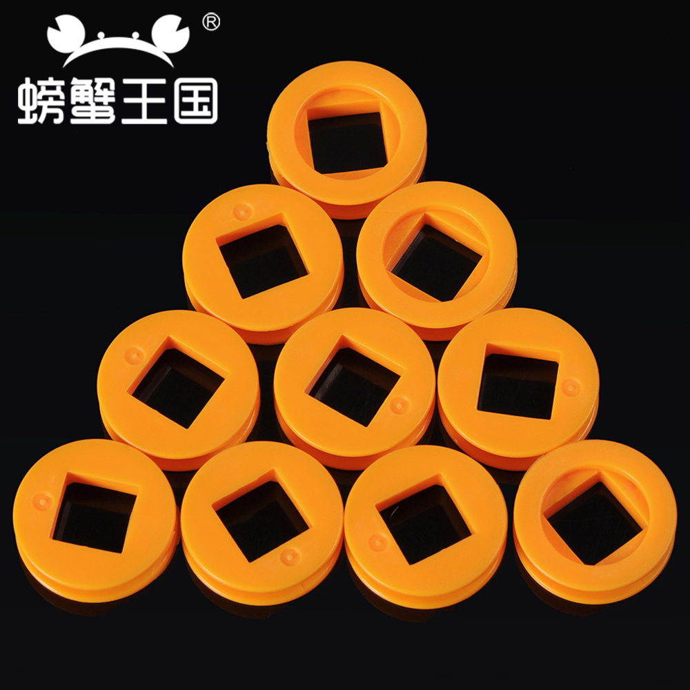 Crab Kingdom round square hole belt pulley 24 x 4mm Diameter drive wheel POM plastic gear pulley