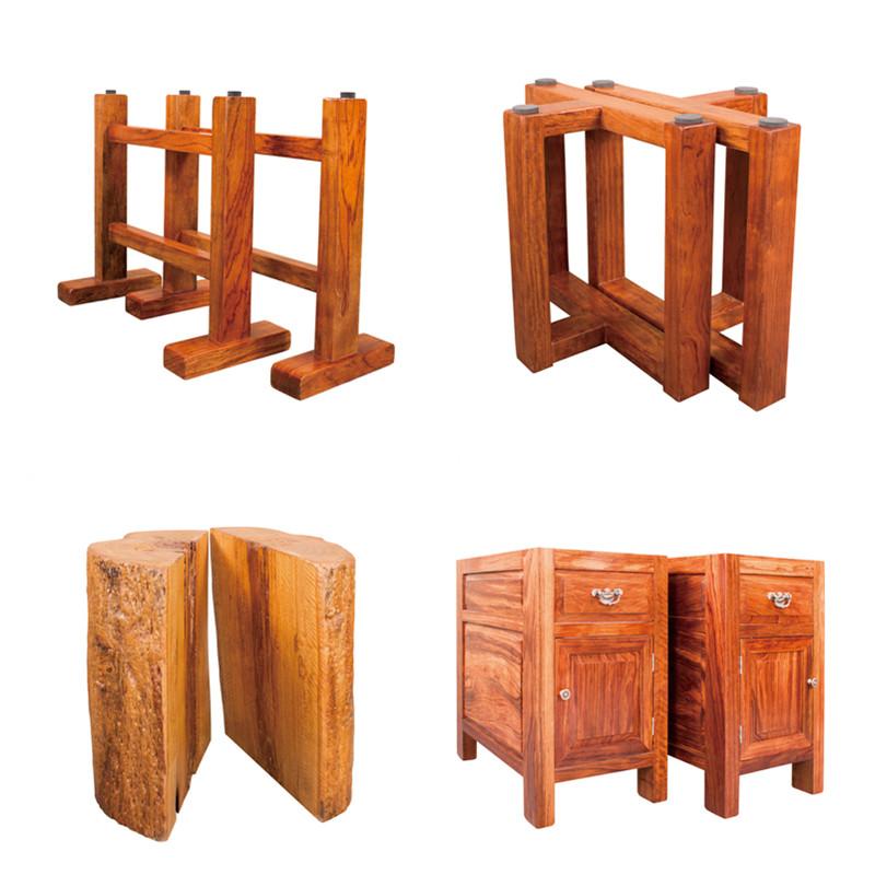 Table de bureau en bois de M. Kan volumineux de plaque de table table de fleurs de thé de bois plaque un journal de poire Rouge autrichienne