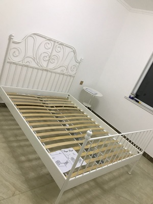 IKEA genuine domestic purchasing iron bedstead double iron bed lysle Vic European garden bed frame