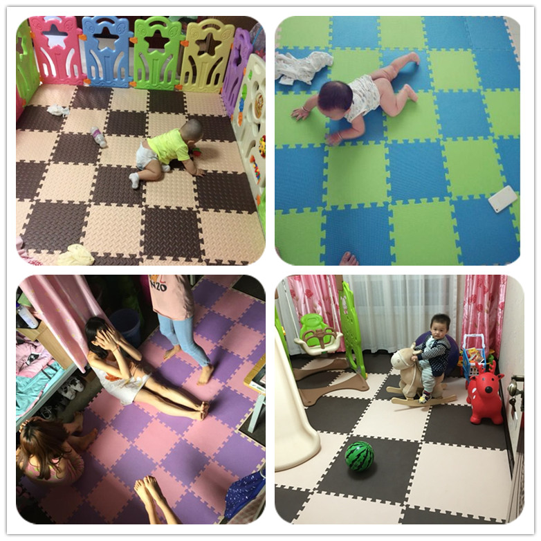 Foam mat bedroom floor puzzle large tatami mat thickened children crawling climbing home