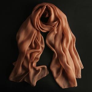 上海故事围巾女士春秋桑蚕丝巾长款百搭春季2018新款真丝薄款纱巾