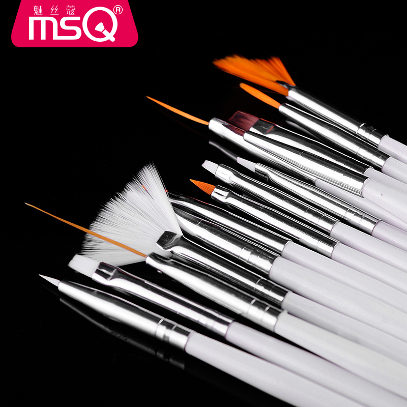 MSQ/ 15 Manicure corde wire charm kit Manicure professional pen full set of genuine nail brush