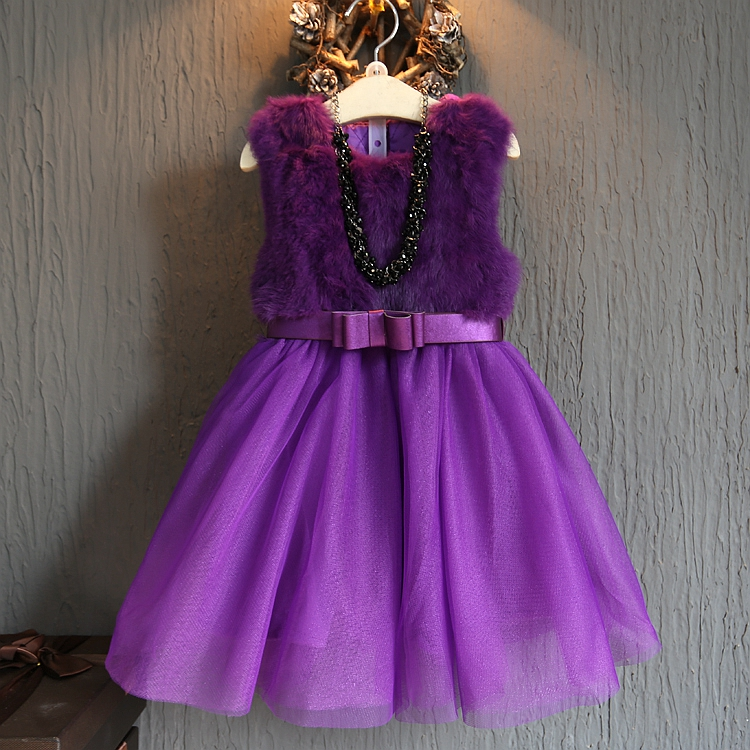 女童冬装新款连衣裙儿童公主裙小女孩童装裙子加绒加厚洋气中大童