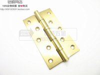 Copper hinge 5*3*3 mute bearing hinge 5 inch 3mm thick pure copper door hinge hinge door hinge single chip price