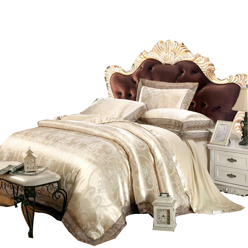 Four sets of silk and the wind 1.5/1.8m2.0 m single bed double jacquard 100% cotton four set
