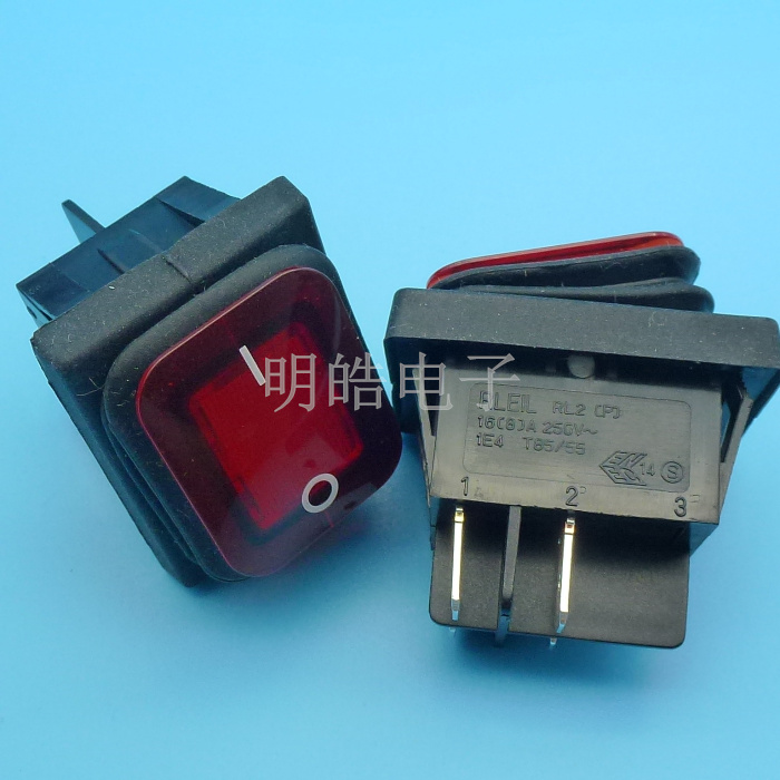 Taiwan genuine 4 feet ship type switch RLEILRl2 ship shaped switch waterproof switch 24V red light