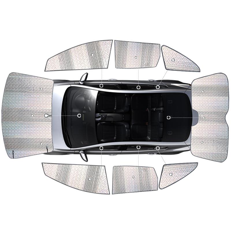 Subaru Forester auto zonnescherm warmte - isolatie met ZONNEBRAND ZON auto voor behoud van het glas van de zon.