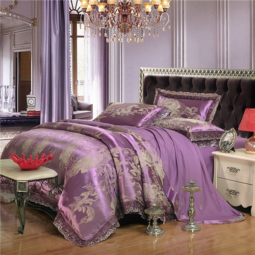 Cotton jacquard lace's authentic four sets of four sets of modal Tencel twill 1.8m1.5m bed