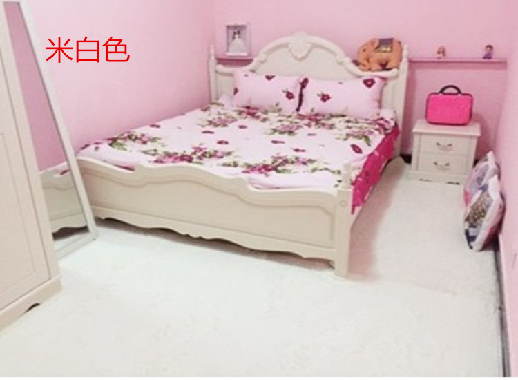 The princess white hand woven mat carpet rug handmade tatami Nordic personality dormitory custom waterproof