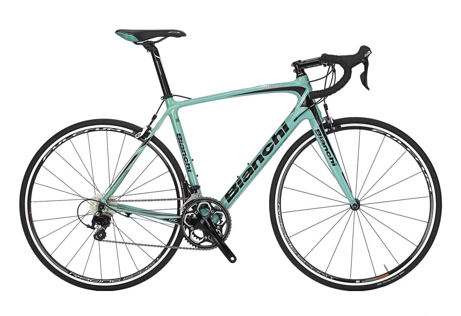 La bicicleta de carretera Bianchi importada de Italia