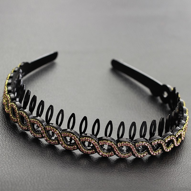 The middle-aged girl hair headdress hairpin wide diamond simple bangs entrainment gear pressure hollow head hoop mother