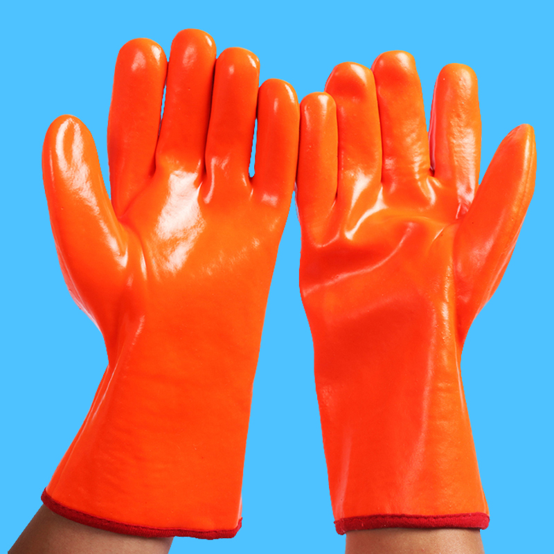 Waterproof and anti freezing gloves, car wash gloves, thickening oil proof gloves, oil proof work, winter labor protection, low temperature cold storage
