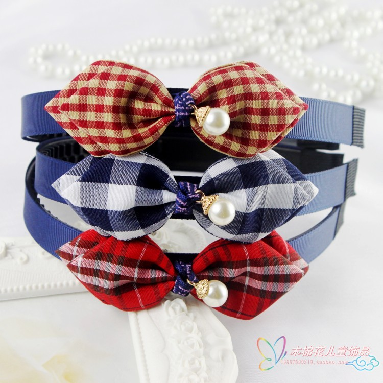 Girls Hair Bow Headband with tooth crown of Korean children hair Princess headdress hairpin head buckle shipping