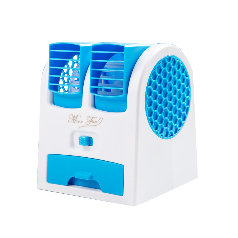 Mute, refrigeration, humidification, mini air conditioning, children's baby, baby's bed dormitory, rechargeable small leaf small fan
