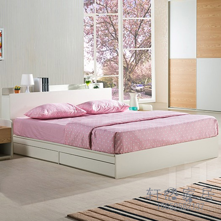 On the Korean type bed bed two drawer storage bed single bed bed tatami furniture can be customized