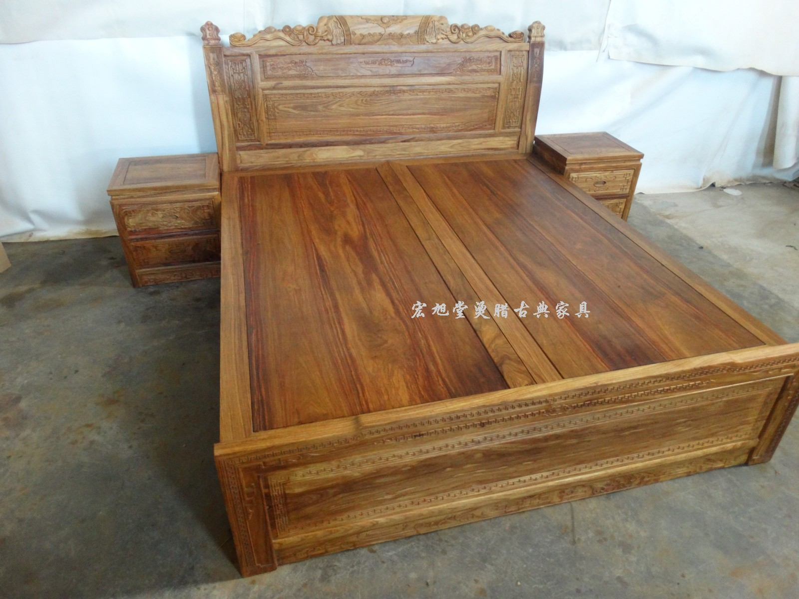 Special offer tangla rosewood mahogany furniture mahogany bed double bed 1.8 Chinese classical wood furniture