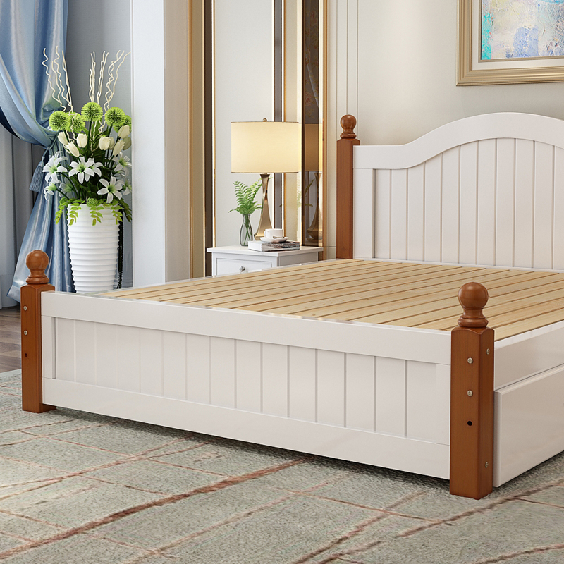 Free installation double bed, master bedroom, solid wood bed 1.5 meters, modern simple 1.2 single bed, Xuan Xuan 1.8 package installation