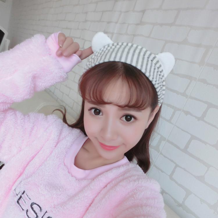 Chen lovely cat rabbit ears with wide beam hair wash hair hoop sports Korea headdress hairpin hair rope