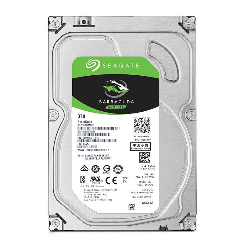 seagate / seagate st3000dm001 boxed strong 3tb desktop mechanical hard drive 3t hard drive