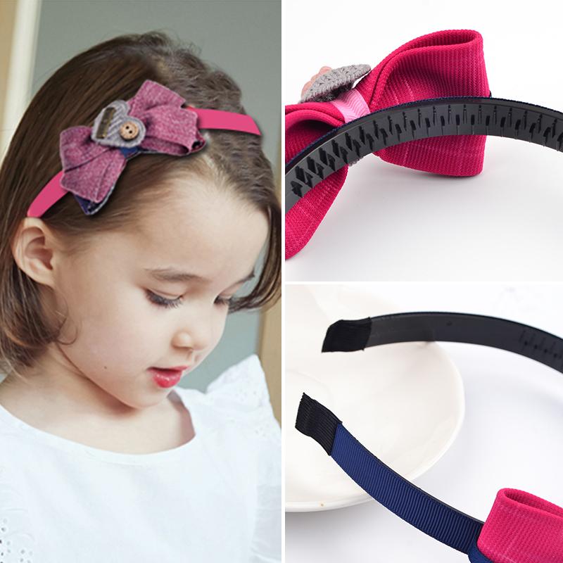 韓国の子供のカチューシャの髪飾り结带歯蝶スリッププリンセス頭発箍女の子女の子頭のアクセサリの留め金