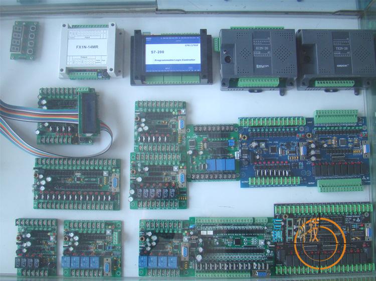 三菱PLC工控板国产PLC 可编程控制器 EC2N 20MR 监控文本断电保持