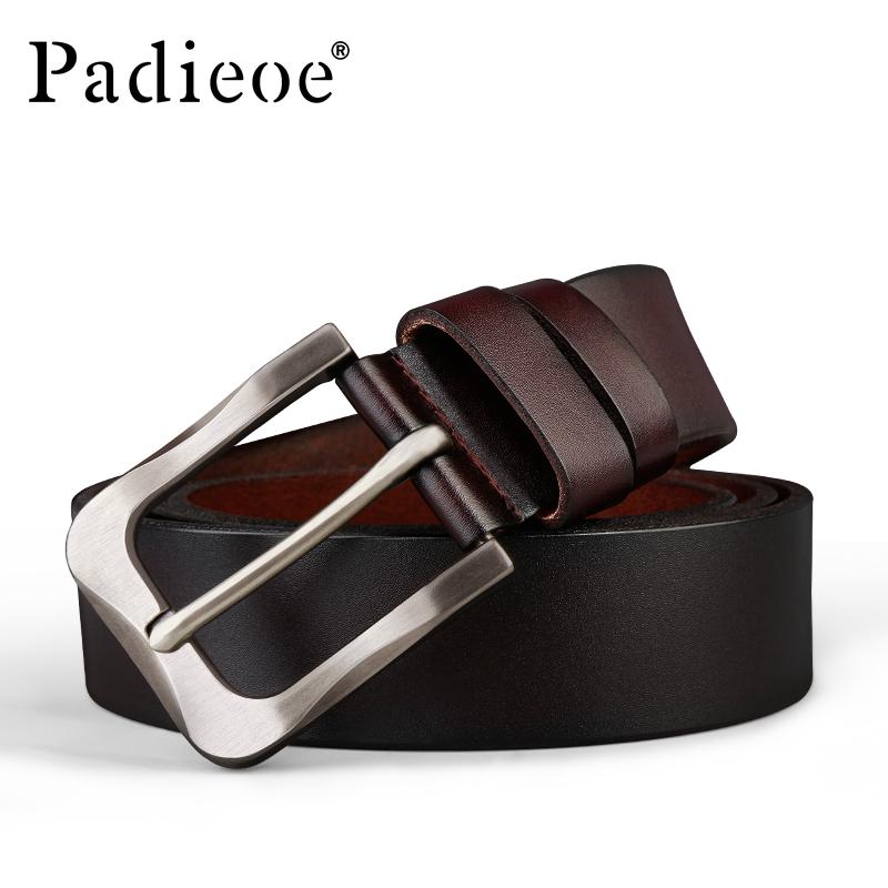パデュオの新型紳士ベルトバックルベルト男針カジュアルビジネス牛皮靑年復古ファッションのベルト
