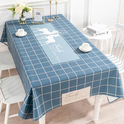 北欧ins桌布布艺现代简约棉麻餐桌布防水电视柜茶几桌布圆桌桌布