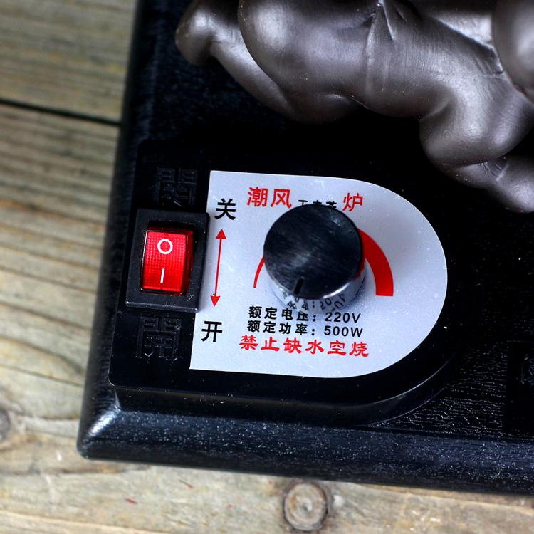 Se hierve un horno eléctrico tetera de té de vidrio Purple Kung Fu e la tetera