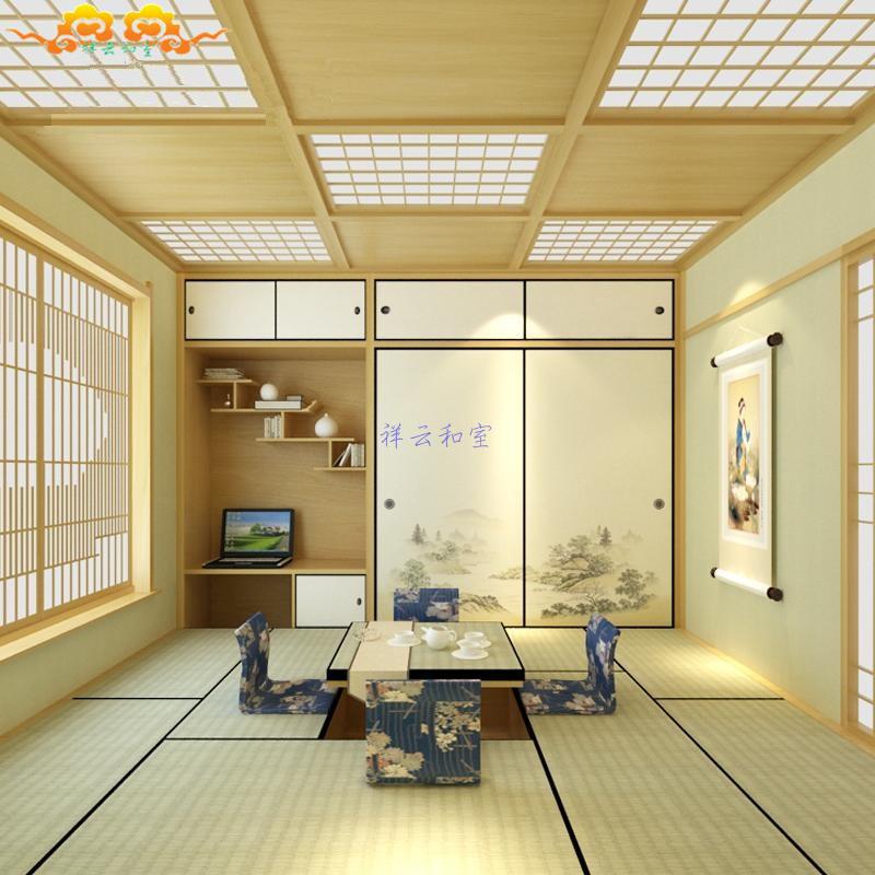 Tatami platform customized wood bed children bedroom balcony matting m wardrobe window study