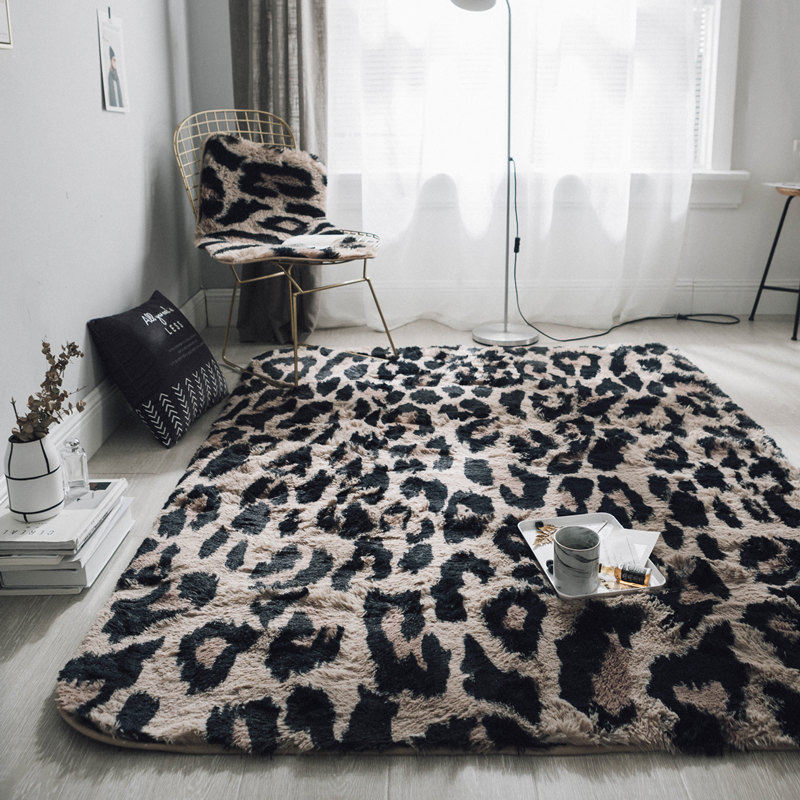 Leopard ins Nordic wind personality living room bedroom bed mat mat table mat crawling pad tatami mats