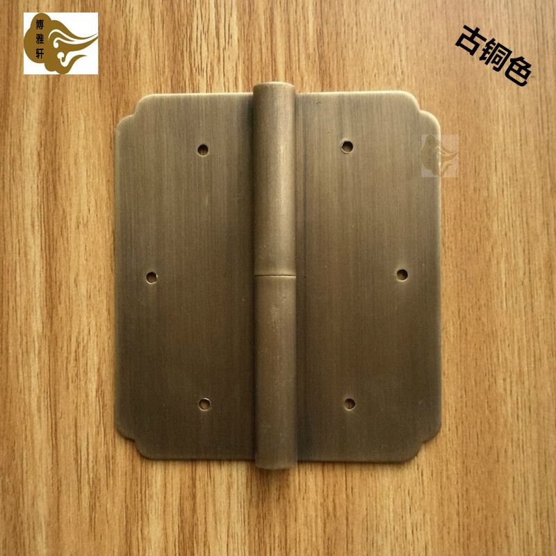 The door of Chinese furniture with the detachable hinge hinge hinge cabinet wardrobe bookcase copper hardware accessories