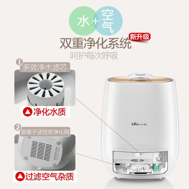El Humidificador de aire de gran capacidad de silenciar el dormitorio de depuración de aire domésticos de oficinas pequeñas mini Aromaterapia