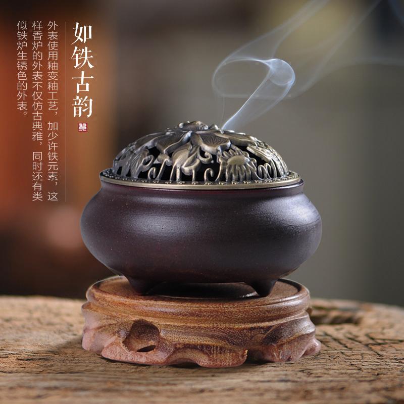 почта пакет кадило туба фиолетовый творческих еще тонет Тан печи Ароматерапия башня аромат чайной церемонии керамические украшения вспять малых и