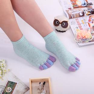 秋冬季五指袜女纯棉短中筒袜子韩版礼盒全棉可爱防臭脚趾袜分脚趾