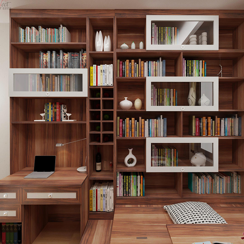 Plate space saving furniture custom tatami creative bookcase combination bed low table style lifting table
