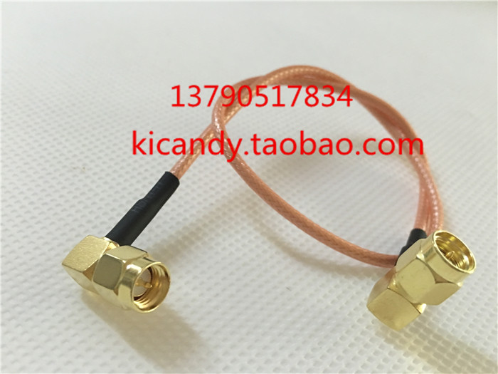 High quality RF SMA-JJW double bend signal line high frequency coaxial 50 ohm AP jumper RG316 optional length