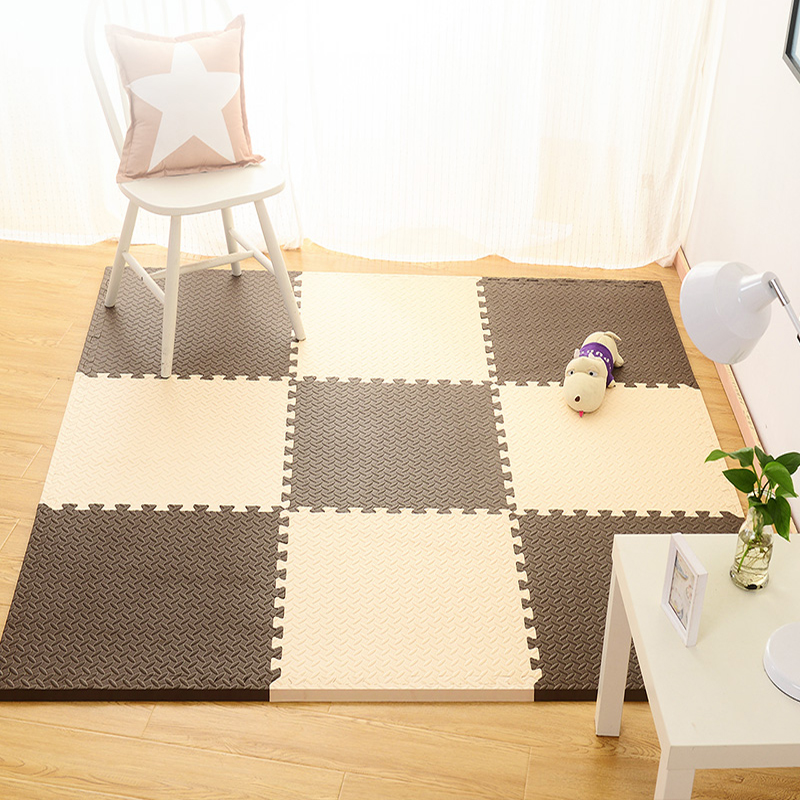 Children's puzzle mats on the living room floor mat crawling pad stitching carpet mat anti-skid 60 bedroom thickening