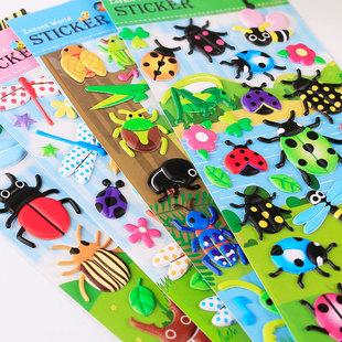 动物猫狗狗恐龙汪汪队小猪泡泡贴纸儿童早教手工贴纸幼儿园奖励贴